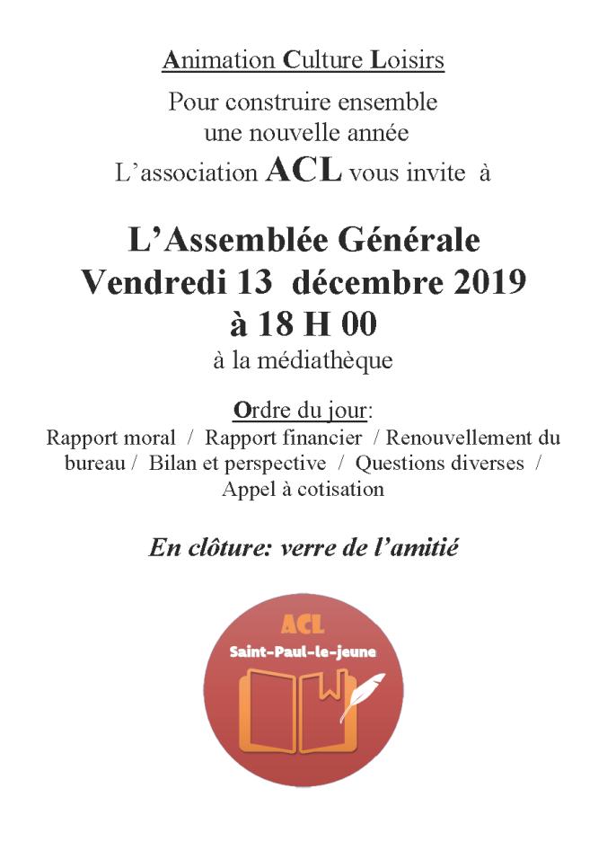 affiche AG 13 dec 2019